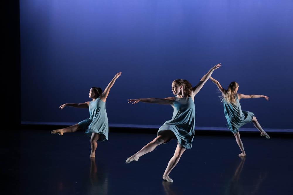 Students in the Dance program dancing