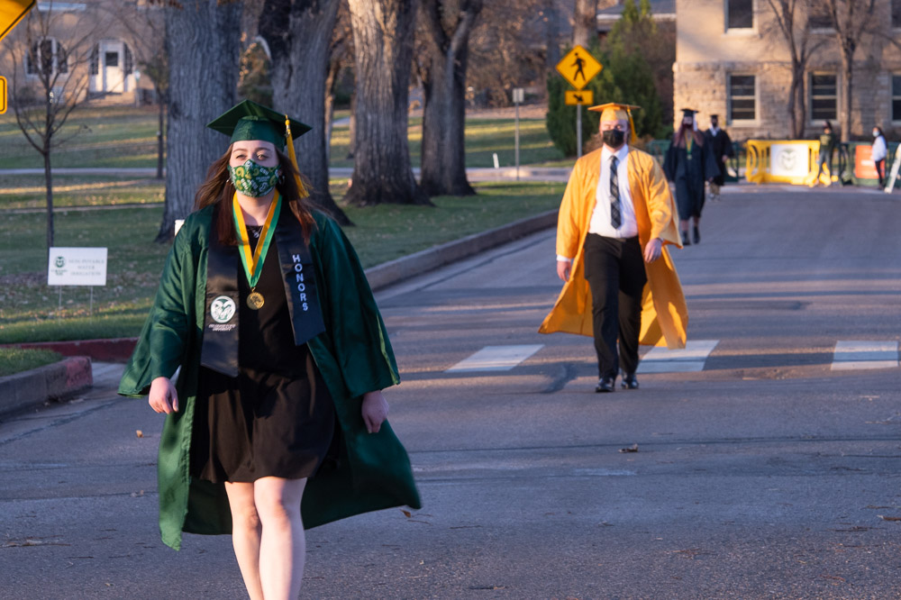 Colorado State University's College of Natural Sciences celebrates its graduates at the 2020 Commencement, held on The Oval due to COVID-19.